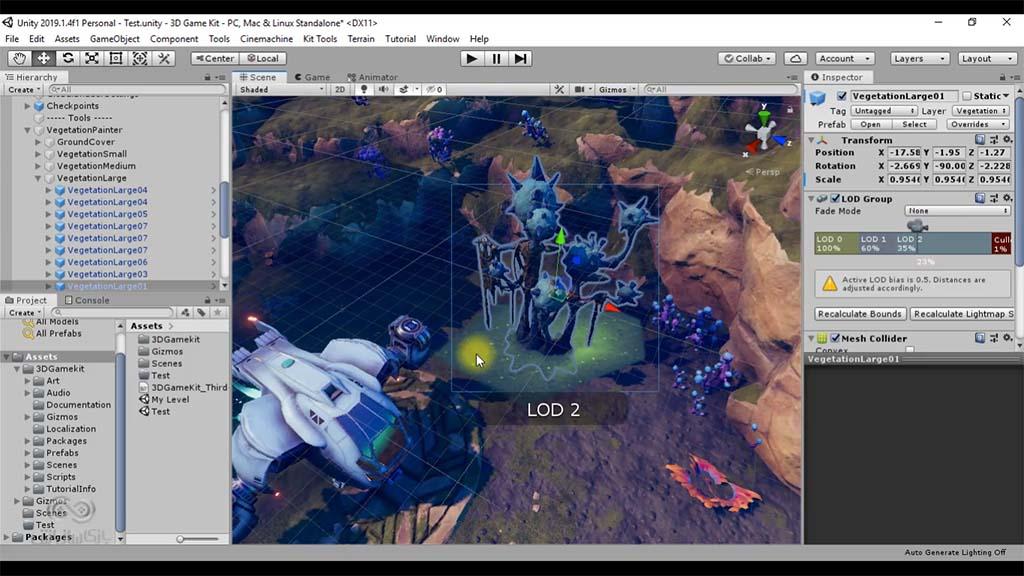 کیت بازی سازی سه بعدی ساخت محیط